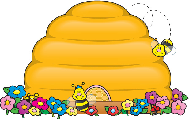 Cartoon Beehive Clipart Cartoon Bee Hive Clipart